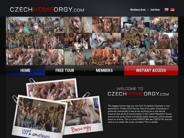 Czech Home Orgy Subscribe
