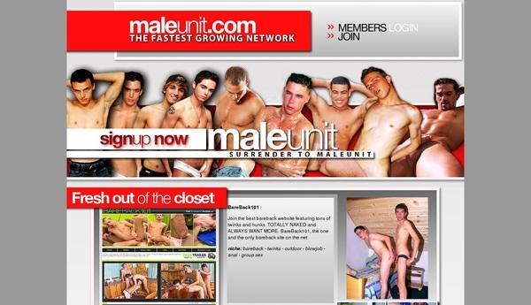 Male Unit Working Accounts