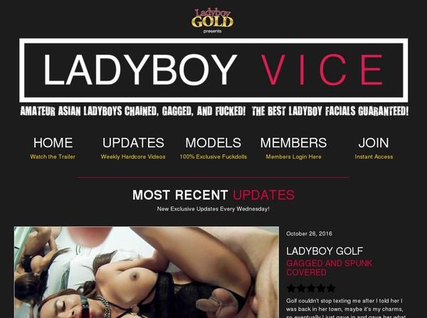 Ladyboy Vice Paypal Discount