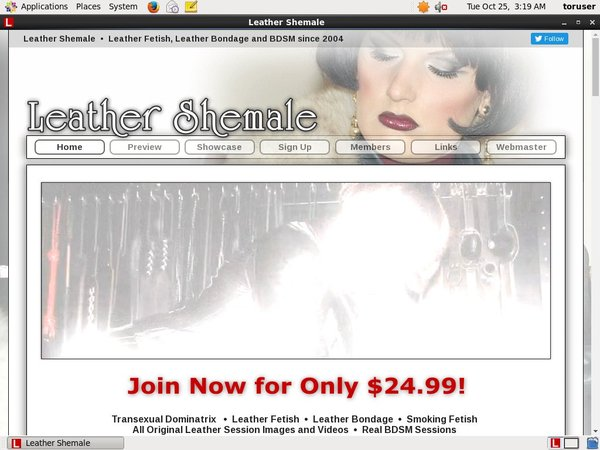 Leather Shemale Signup Page
