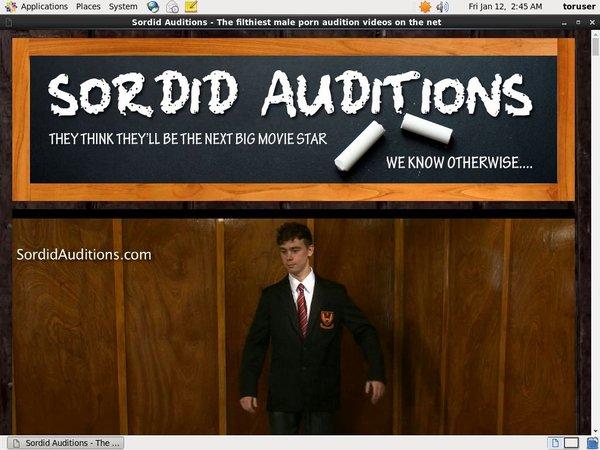 Sordid Auditions Gratuite